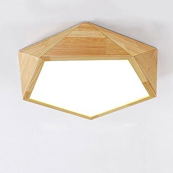 Lámpara de techo de madera simple dormitorio comedor lámpara ...