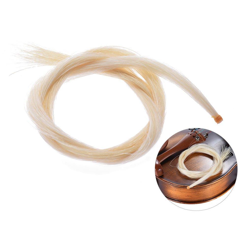 Ammoon One Hank Bow capelli crini per violino 4/4Bow color bianco naturale 4/4