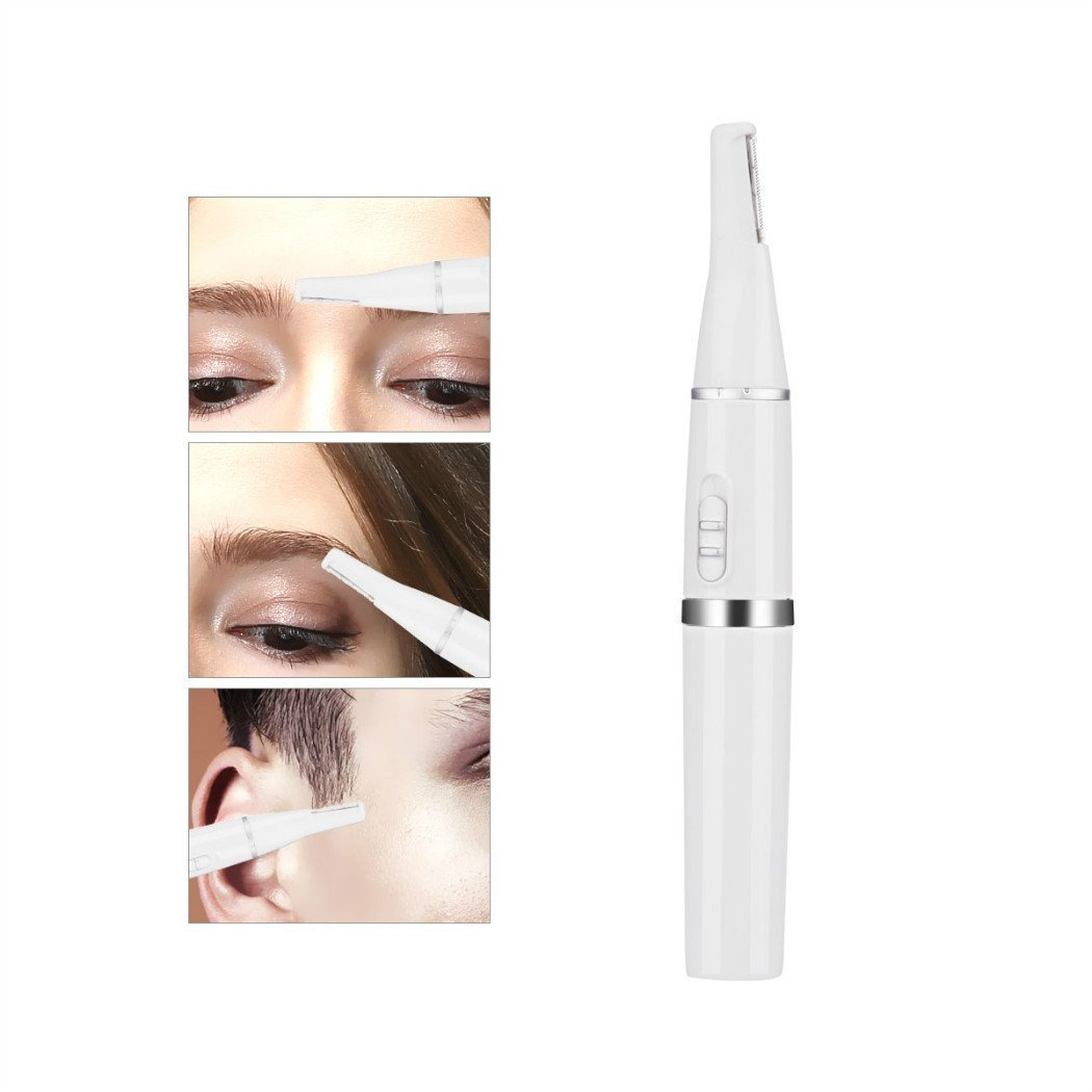 Fomatrde Nose Hair Trimmer for Men Women,2 in 1 Waterproof Eyebrow Facial Hair Ear Trimmer Cordless with Electric Nose Ear Hair Trimmer Scissors Rechargeable for Men Women,Nose Hair Trimmer