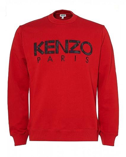 8c4b3b294de2 Kenzo Mens Paris Logo Sweatshirt XL Red  Amazon.co.uk  Clothing