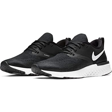 Nike Womens Odyssey Reach Flyknit 2 Running Shoe, Black/White, ...