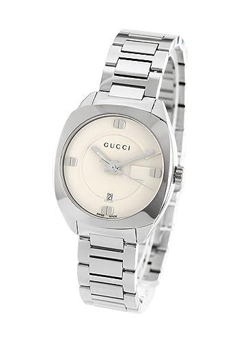 Reloj Gucci mujer ya142502 al cuarzo (batería) acero quandrante blanco correa acero: Amazon.es: Relojes