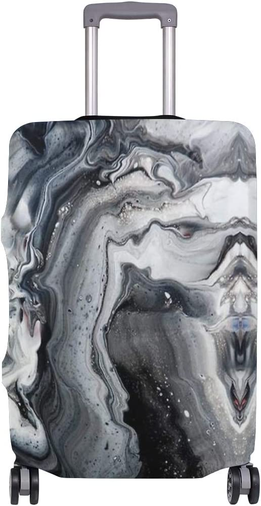 Abstract Watercolor Marble Traveler Lightweight Rotating Luggage Cover Can Carry With You Can Expand Travel Bag Trolley Rolling Luggage Cover
