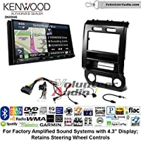 Volunteer Audio Kenwood Excelon DNX994S Double Din Radio Install Kit with GPS Navigation Apple CarPlay Android Auto Fits 2015-2016 Ford F-150, 2017 Ford F-250