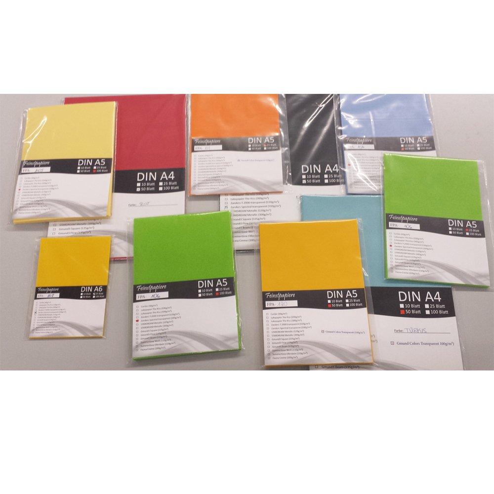 Linienmuster 100 Blatt DIN A4 Transparentpapier Zanders Spectral Montmartre