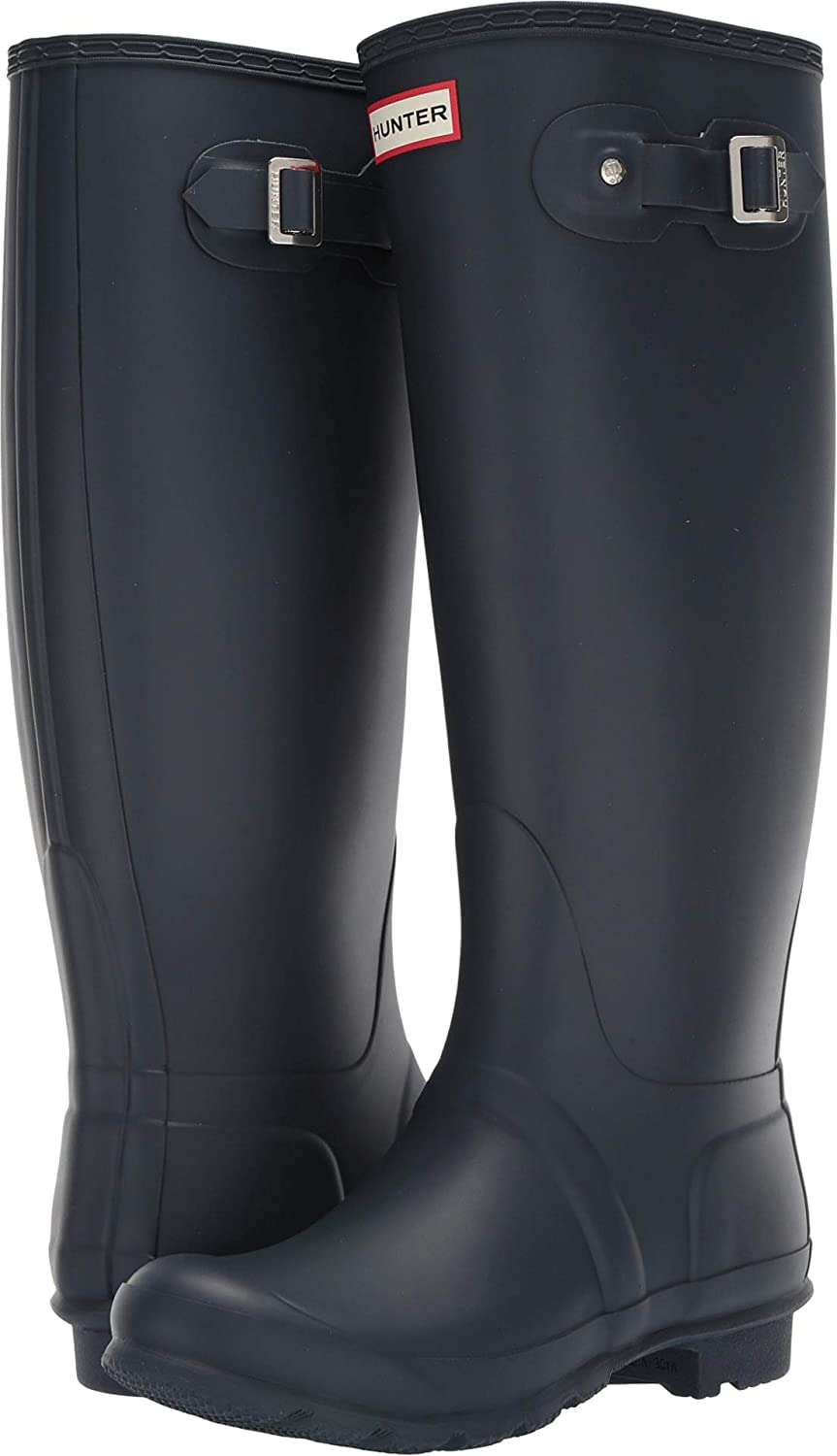 Navy Hunter Women's Original Tall Wide Leg Rain Boots Navy