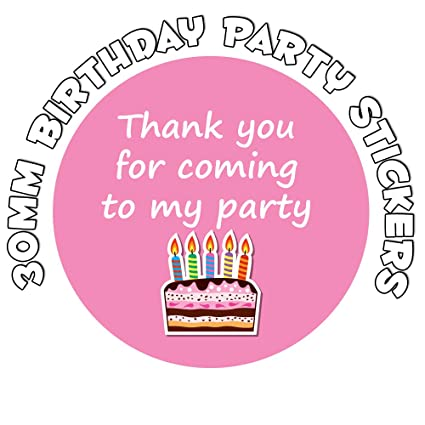 346 MIXED Birthday Present NON Personalised Thank You Party Seals Stickers Cake