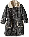 Anais & I Little Girls' Emma Wool Coat (Toddler/Kid)-Charcoal Heather-4