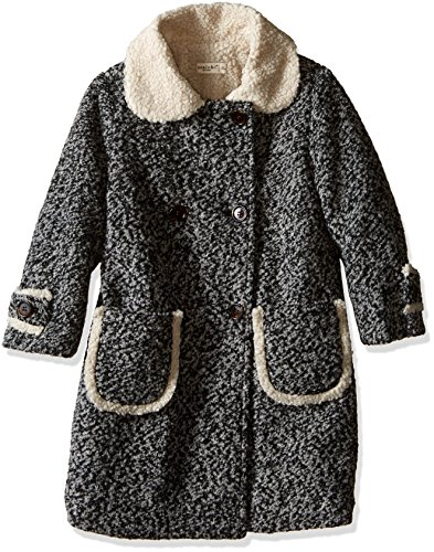 Anais & I Little Girls' Emma Wool Coat (Toddler/Kid)-Charcoal Heather-4 by Anais & I
