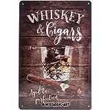 Nostalgic-Art 40361132225 Cartello Whiskey, Acciaio, Marrone, 30 x 20 x 0.2 cm