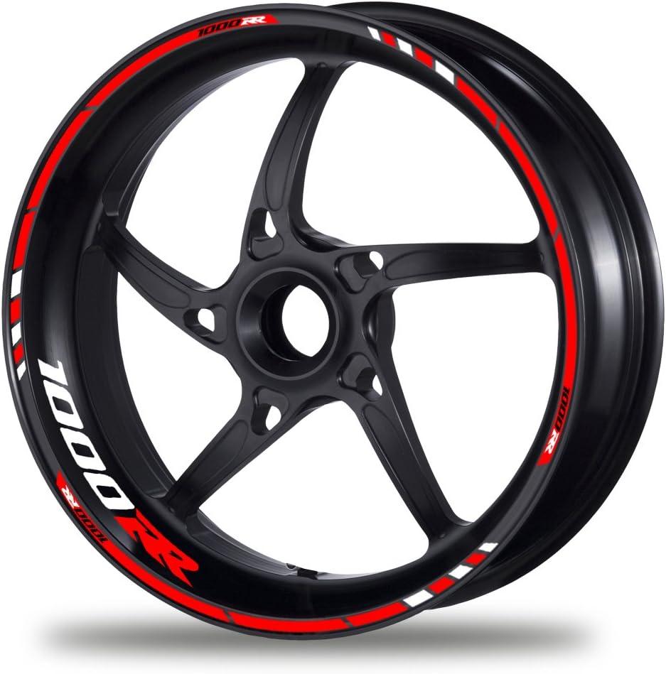 Motiv 4 FELGENRANDAUFKLEBER passend f/ür Honda CBR 1000 RR Felgenaufkleber Moto GP Style