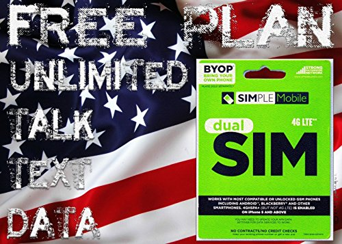 Simple Mobile SIM Card Including Preloaded Prefunded With $40, First Month Free by Simple Mobile