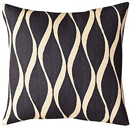 Amazoncom Kashmir Designs Contemporary Waves Slate Gray Decorative