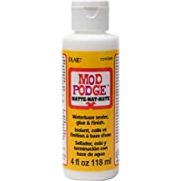 Mod Podge CS11305 Waterbase Sealer, Glue & Decoupage Finish, 4 oz, Matte