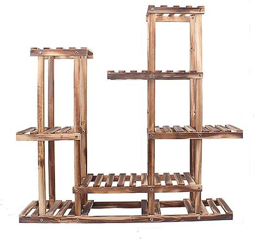 Estante de madera para maceta de jardín o jardín, para interior o ...