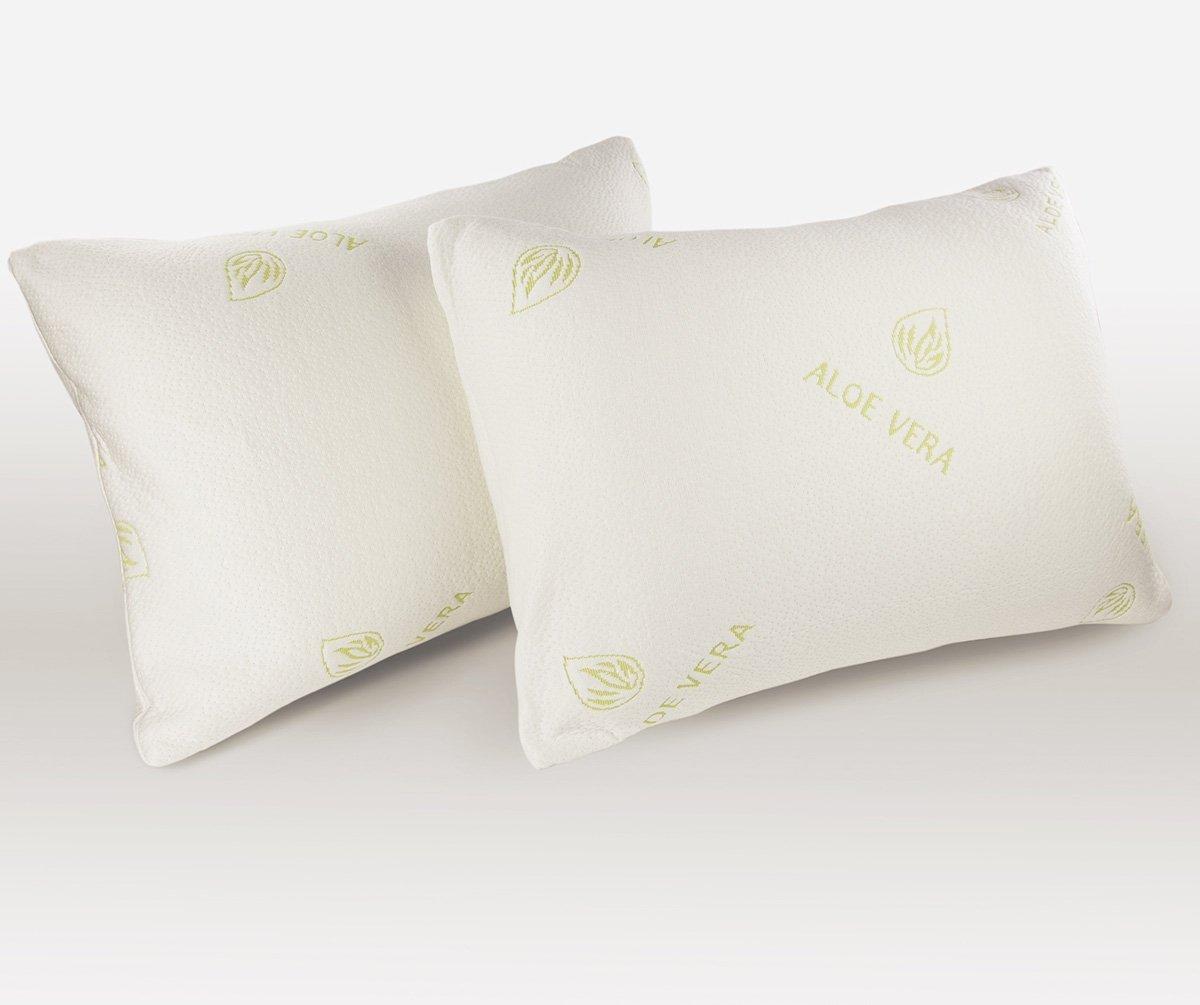 Iyan Linens Ltd Aloe Vera Memory Foam Bamboo Anti Allergy Anti Dust Anti-Bact Head Neck Support Pillow-Pack of 1