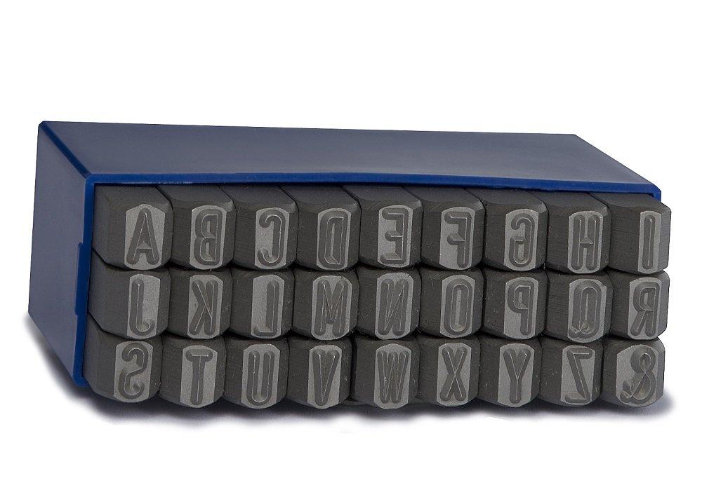 GRAVUREM 101.SR15 Juegos de abecedario de 15 mm de acero de aleaci/ón para marcado por golpe 27 piezas