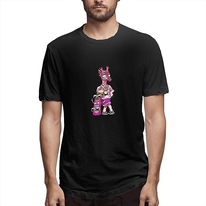 d382ec265 Men Super Giraffe Graphic Tee Novelty Funny Short Sleeve T Shirt Black S