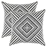 TreeWool, (2 Pack) Throw Pillow Covers Kaleidoscope Accent in...