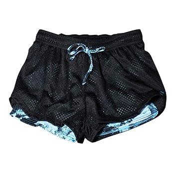 Pantalones Cortos De Yoga Pantalones De Yoga 2 En 1 Mujeres ...