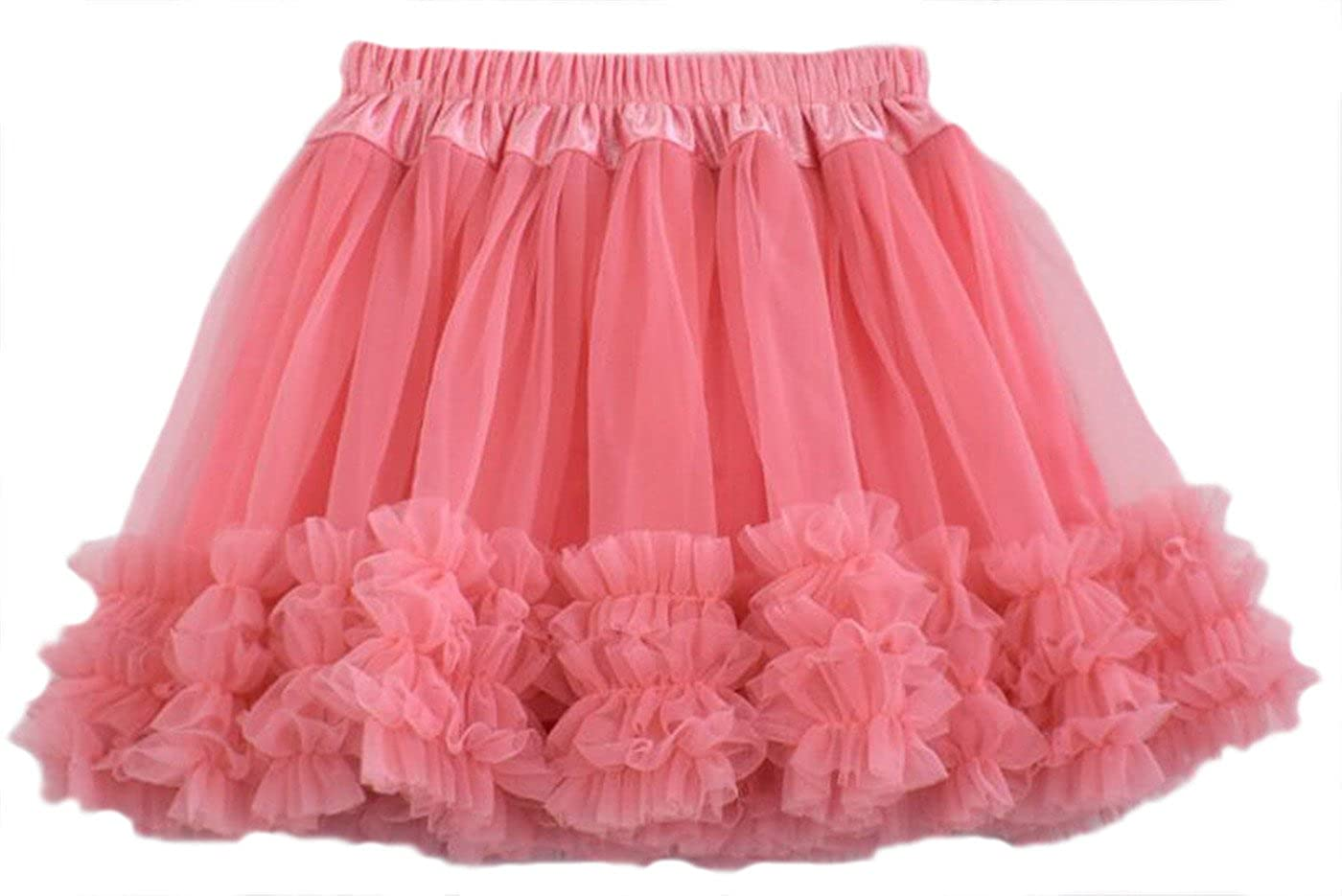 Youngate Little Girl Fluffy Pettiskirt Tutu Party Pleated Tulle Bubble Skirts