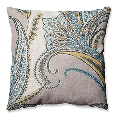 Pillow Perfect Rimby Dune Throw Pillow, 16.5-Inch - Includes one (1) decorative throw pillow; suitable for indoor use Plush Fill - 100-percent polyester fiber filling Edges of decorative pillow are knife edge - living-room-soft-furnishings, living-room, decorative-pillows - 61Rn uGTf6L. SS400  -