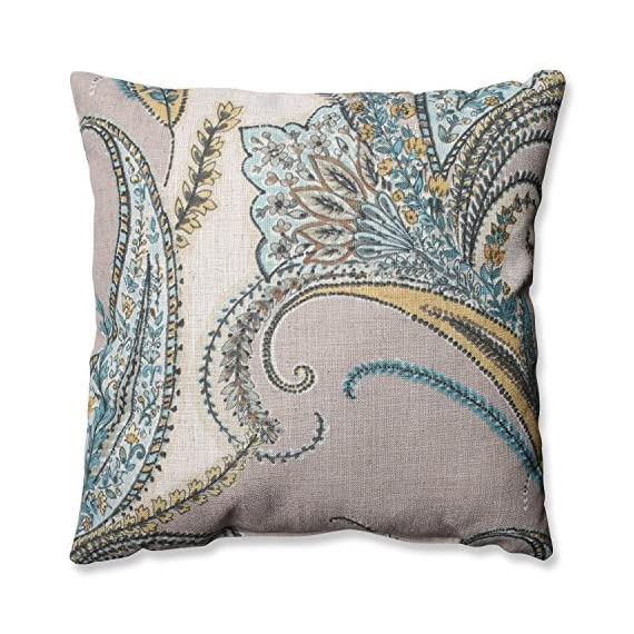 Pillow Perfect Rimby Dune Throw Pillow, 16.5-Inch - Includes one (1) decorative throw pillow; suitable for indoor use Plush Fill - 100-percent polyester fiber filling Edges of decorative pillow are knife edge - living-room-soft-furnishings, living-room, decorative-pillows - 61Rn uGTf6L. SS570  -