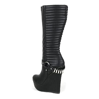 Black Boots 1 Inch Heel