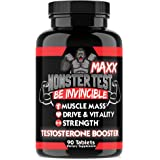Angry Supplements Monster Test MAXX Testosterone Booster for Men - Maximum Strength Energy Pills for Natural Muscle Growth & Pump - Kit to Increase Drive and Vitality (1-Pack)
