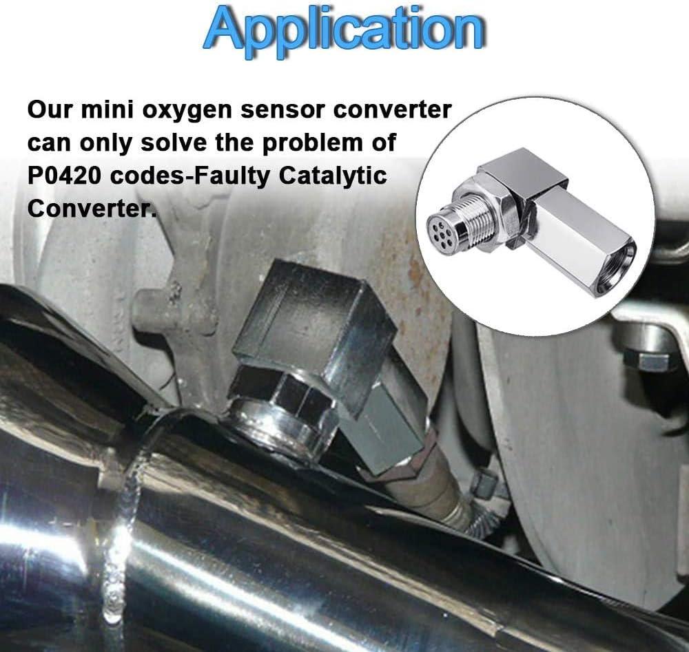 O2 Sensor Protective Shell Plug Adapter with Mini Catalyst M18 x 1.5