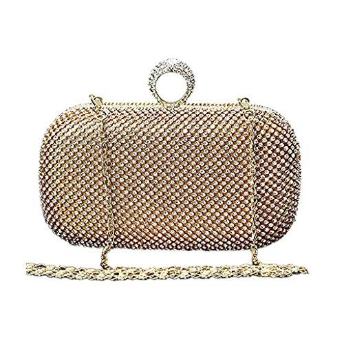 Prom Black Golden Diamond Clutch Bags BigForest Ring Handmade Women Handbag Crystal Evening Pearl Bags wWx77Oanq