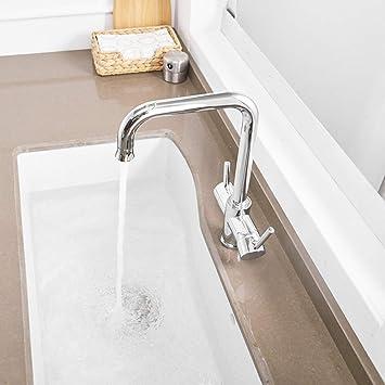 WHFDRHSLT Grifo Purificador de agua Grifo con agua filtrada Doble ...