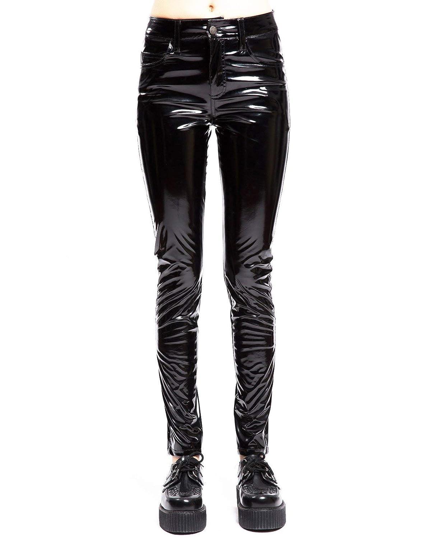 bd751a978971 Amazon.com: Tripp Women's High Waist Vinyl Pants: Clothing