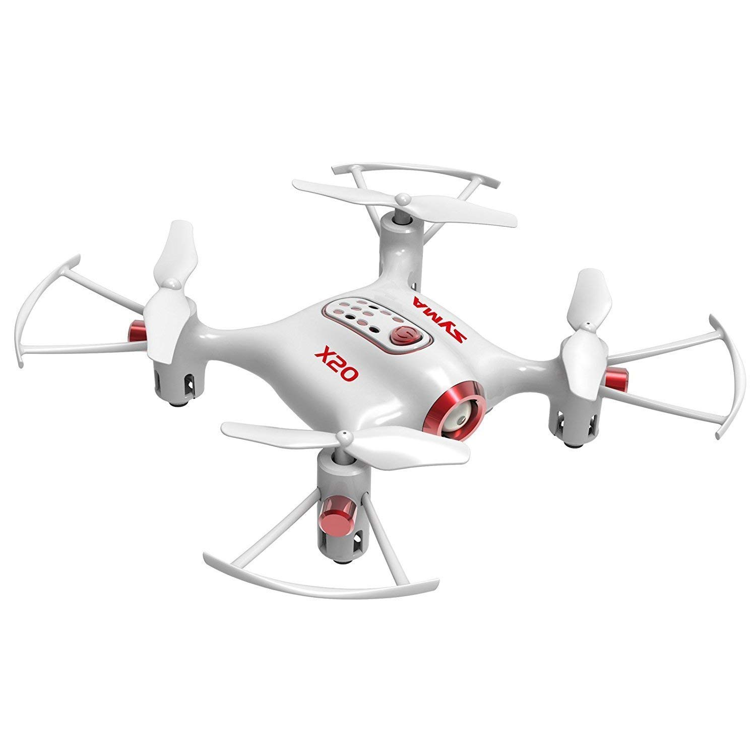 Cheerwing Syma X20 Pocket Drone 2.4Ghz Remote Control Mini RC Quadcopter with Altitude Hold And One Key Take-off Landing (bianca)