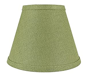 Urbanest Coolie Hardback Lampshade, Burlap, 5-inch by 9-inch by 7-inch, Khaki Green, Spider Washer Fitter