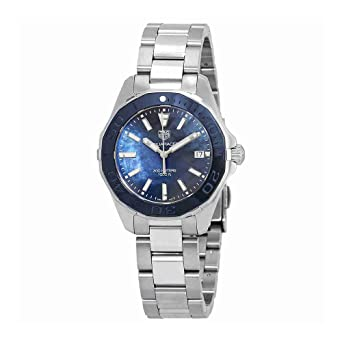 Amazon.com: Tag Heuer Aquaracer Blue Mother of Pearl Dial Ladies Watch WAY131S.BA0748: TAG Heuer: Watches
