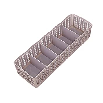 YJYDADA Caja organizadora de plástico para Sujetar Sujetadores, Calcetines, cajones, cosméticos: Amazon.es: Hogar