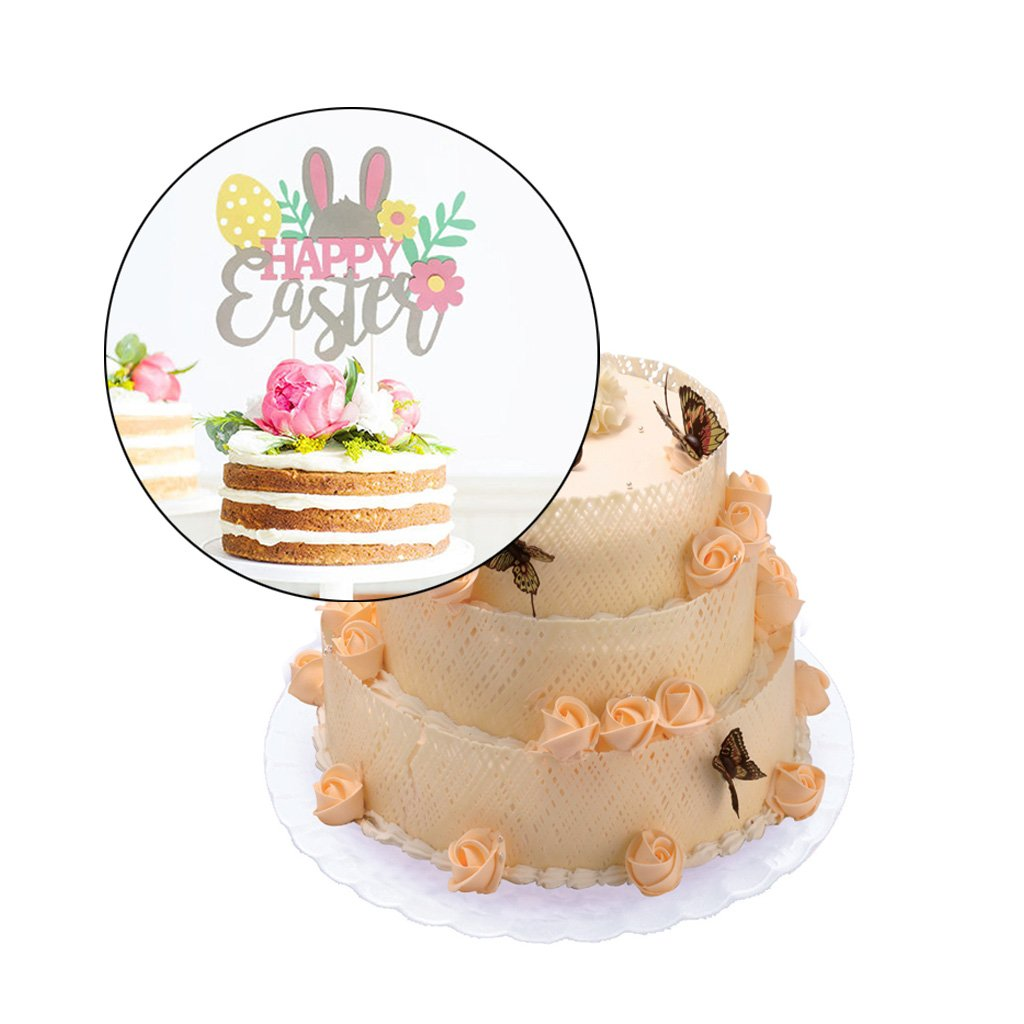 dise/ño de Conejo Fafalloagrron Decoraci/ón para Tarta de Pascua