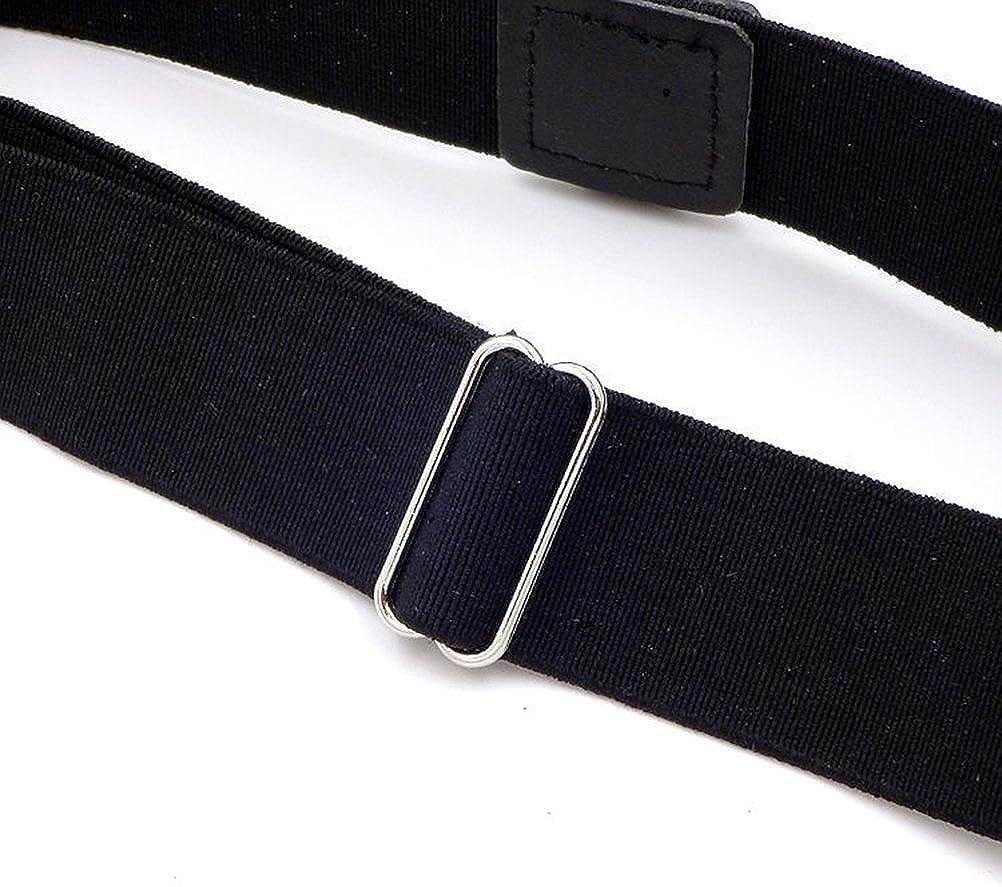 Tinksky Chemise /à la cuisse Stays Garters Ajustable anti-rides Non Slip Clip Elastic Shirt Tuck Suspenders pour hommes et femmes Noir