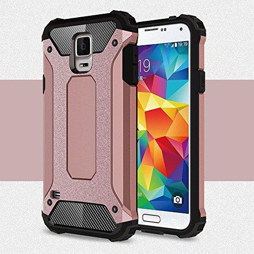 Para Samsung Galaxy S5 cubierta i9600 G9600F G900A silicona cajas del teléfono de la caja del caucho duro Samsung Galaxy S5 dura delgada Oro rosa