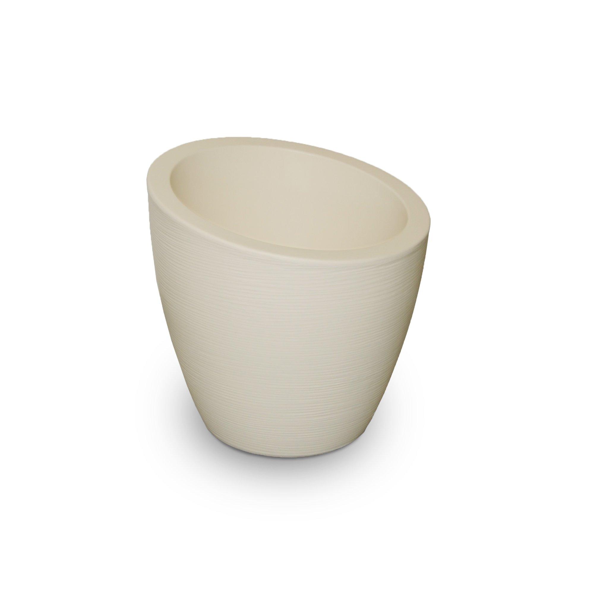 Mayne 8879-IV Polyethylene Planter, Ivory by Mayne