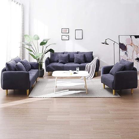 Outstanding Volitation Modern Sofa Set 3 2 1 Seater Fabric Sofa Bed Living Room Furniture Theyellowbook Wood Chair Design Ideas Theyellowbookinfo