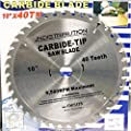 "10"" x 40 Tooth Carbide Circular Saw Blade by CVF Supply"