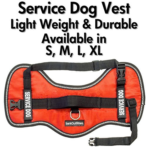 Service Dog Vest Harness - Light Weight But Durable - Available in 4 Sizes - M (24'' - 29'' Girth) by barkOutfitters