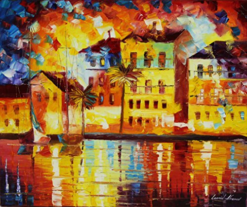 THE SHORES OF SPAIN is the ONE-OF-A-KIND, ORIGINAL hand painted oil painting on Canvas by Leonid AFREMOV by