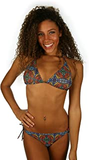 product image for TOP ONLY tan Through String Bikini top