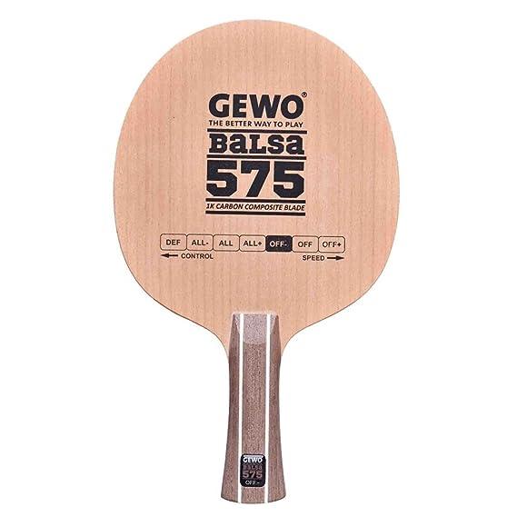 Tenis de mesa | Gewo 575 de balsa de carbono hoja mango recto ...