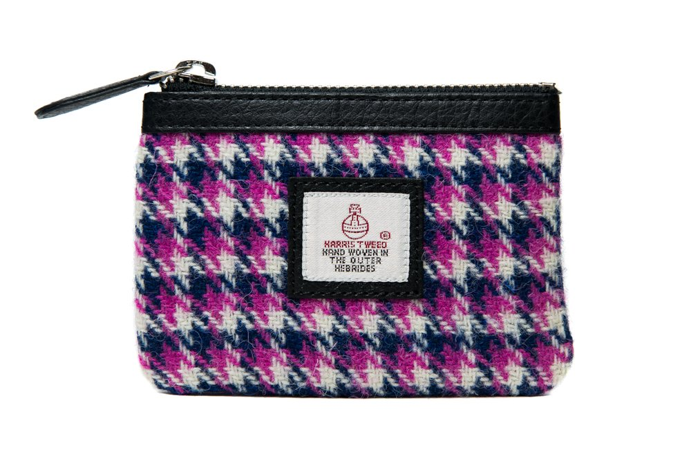 Harris Tweed Coin Purse (Pink Check)