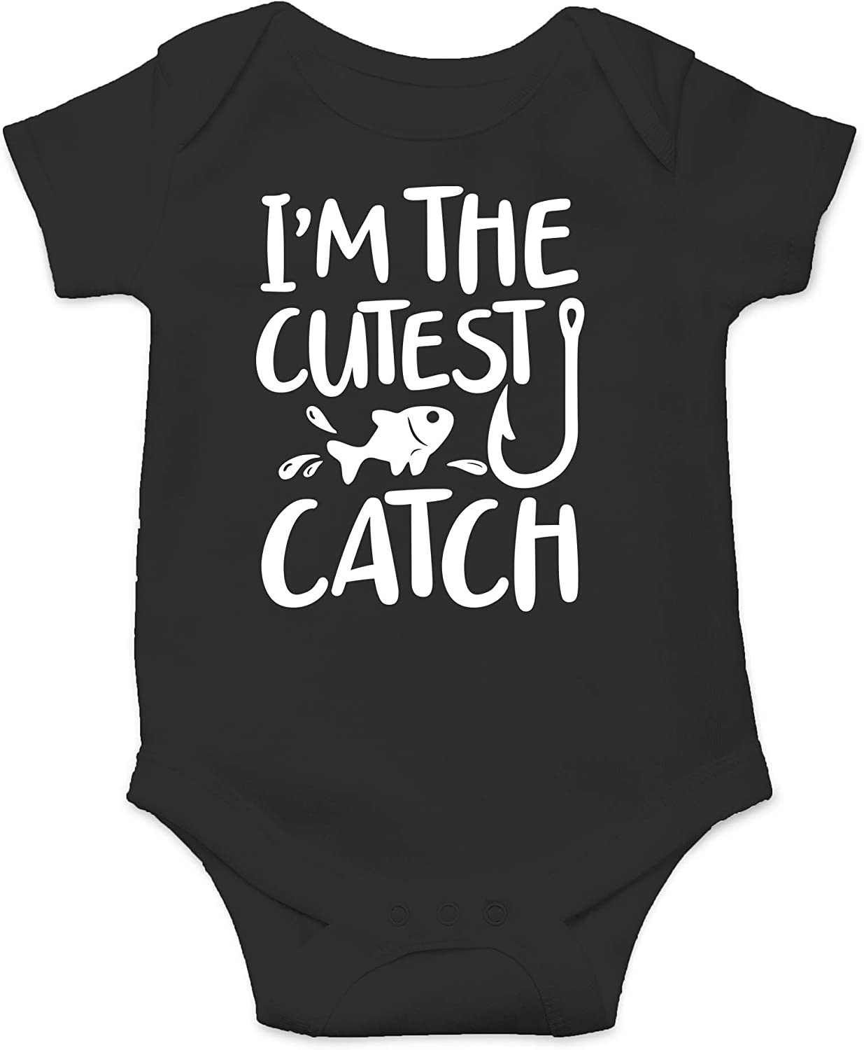 CBTwear I'm The Cutest Catch - Funny Fishing Outfit - Cute Infant One-Piece Baby Bodysuit