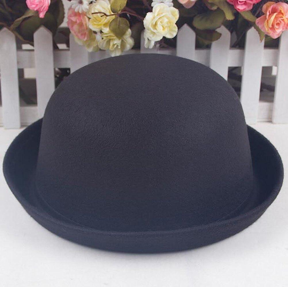 1940s Style Hats | Fascinator, Turban, Fedora Magik Men Women Woolen Roll-up Brim Fedora Bowler Derby Bow Cloche Hat £8.99 AT vintagedancer.com